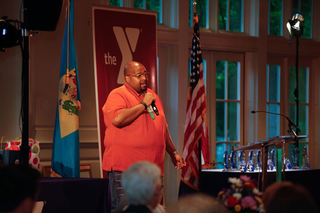 LIVESTRONG at the YMCA participant K.T. Jones shared his story with the audience.