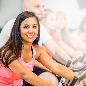 Woman at YMCA Spin Class