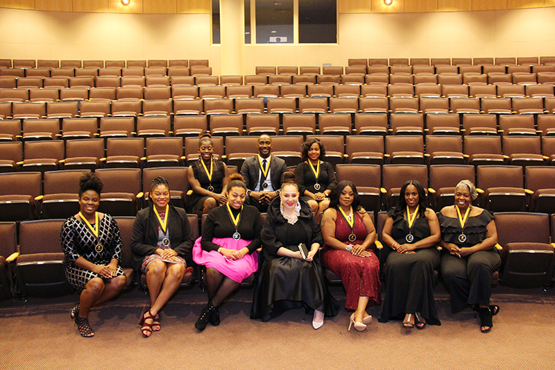 Keynote Speaker, Yvonne Harvey Williams (middle) and the 2018 Achievers.